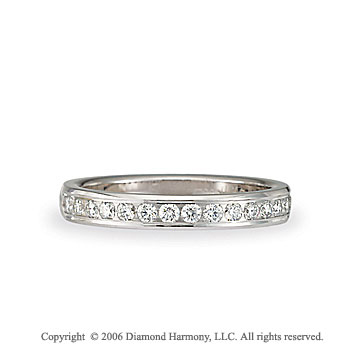 Platinum S/F Channel 1/3  Carat Diamond Wedding Band