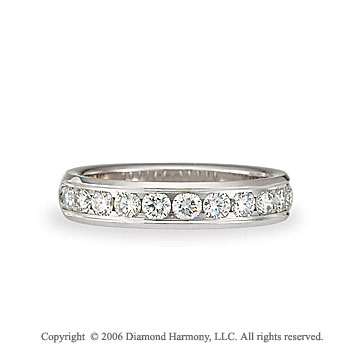 Platinum S/F Channel 3/4  Carat Diamond Wedding Band