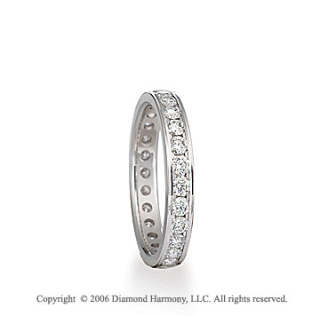 14k White Gold Eternity C/F 1.10 CaratW Diamond Wedding Band