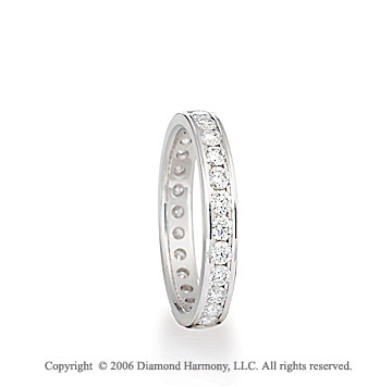 Platinum Eternity S/F 1.10  Carat Diamond Wedding Band