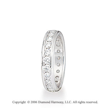 Platinum Eternity S/F 1.15  Carat Diamond Wedding Band