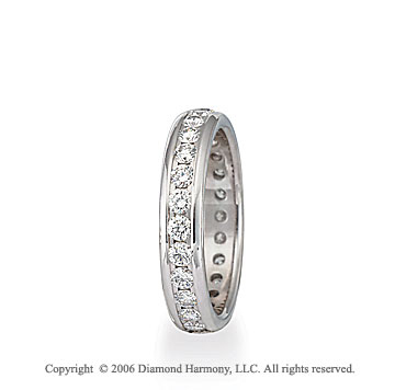 Platinum Eternity S/F 1 1/2  Carat Diamond Wedding Band