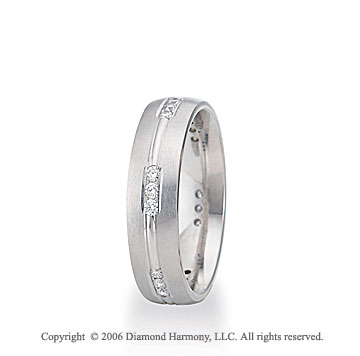Platinum C-Fit Trios 1/3  Carat Diamond Wedding Band