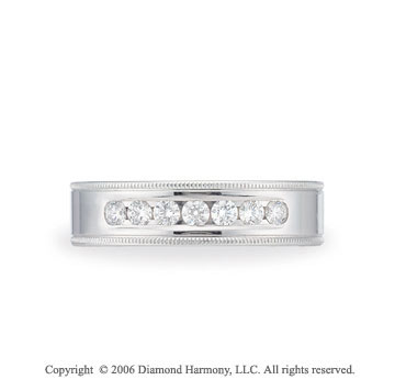 Platinum 6mm Bevel C-Fit �  Carat Diamond Wedding Band