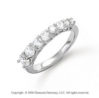 14k White Gold Prong Set 1.00 Carat Diamond Journey Ring