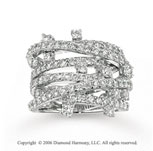 14k White Gold Fashion 2.15 Carat Diamond Right Hand Ring