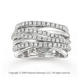 14k White Gold Wraparound 3/4 Carat Diamond Right Hand Ring