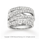 14k White Gold Vintage Style 1 Carat Diamond Right Hand Ring