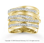 14k Yellow Gold 8 Layer 1 Carat Diamond Right Hand Ring
