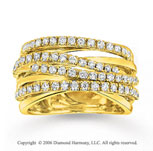 14k Yellow Gold Wraparound 3/4 Carat Diamond Right Hand Ring