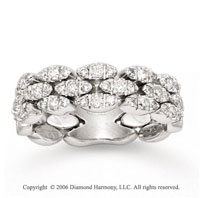 14k White Gold Old Stone Wall 3/4 Carat Diamond Ring