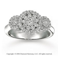 14k White Gold Bouquet Prong 2/3 Carat Diamond Ring