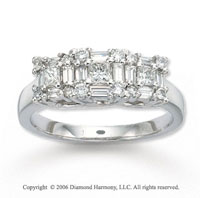 14k White Gold Multi Cut Tower 1 Carat Diamond Ring