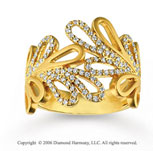 14k Yellow Gold Loops 0.40  Carat Right Hand Diamond Ring