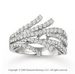 14k White Gold Fancy 1 Carat Diamond Right Hand Ring