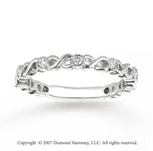 14k White Gold Twist 1/6 Carat Diamond Stackable Ring