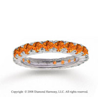 14k White Gold Stylish Round Prong Citrine Stackable Ring