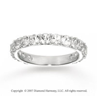 14k White Gold Round Prong White Topaz Stackable Ring