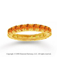 14k Yellow Gold Prong Round Citrine Stackable Ring