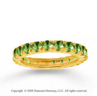 14k Yellow Gold Prong Round Peridot Stackable Ring