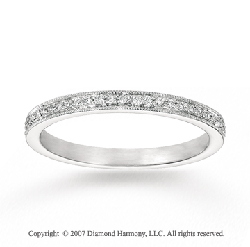 14k White Gold Sleek 0.18 Carat Diamond Stackable Ring