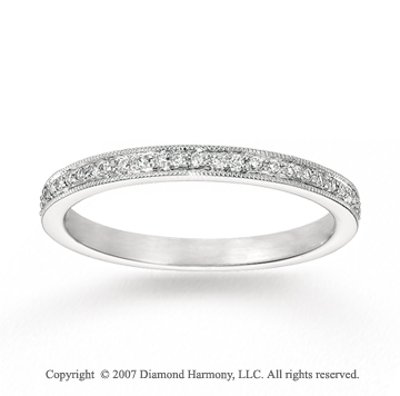 14k White Gold Sleek 1/5 Carat Diamond Stackable Ring