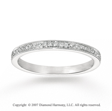 14k White Gold Prong 1/5 Carat Diamond Stackable Ring