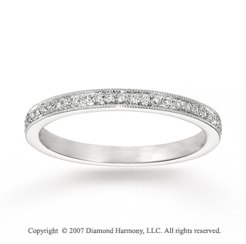 14k White Gold Sleek 0.20 Carat Diamond Stackable Ring