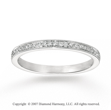 14k White Gold Stylish 0.22 Carat Diamond Stackable Ring