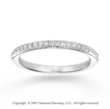 14k White Gold Prong 1/4 Carat Diamond Stackable Ring