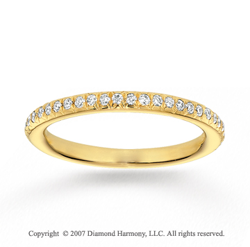 14k Yellow Gold Prong 1/4 Carat Diamond Stackable Ring
