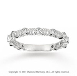 14k White Gold Stylish 0.30 Carat Diamond Stackable Ring