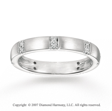 14k White Gold Prong 1/6 Carat Diamond Stackable Ring