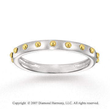 14k Two Tone Gold Elegant Style Smooth Stackable Ring