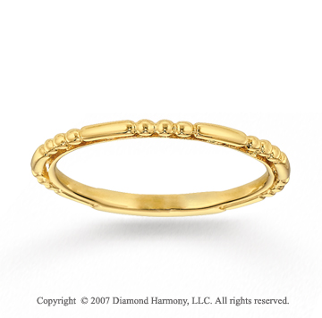14k Yellow Gold Elegant Style Modern Stackable Ring