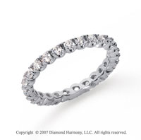 3/4 Carat Diamond Platinum Eternity Round Four Prong Band