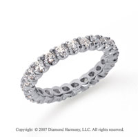 1 Carat Diamond Platinum Eternity Round Four Prong Band