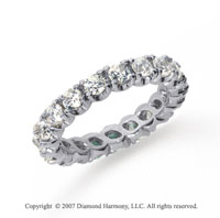 2  Carat Diamond Platinum Eternity Round Four Prong Band