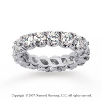 3 1/2  Carat Diamond Platinum Eternity Round Four Prong Band