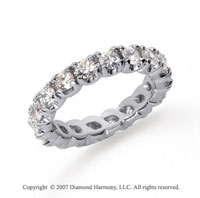 3 Carat Diamond Platinum Eternity Round Four Prong Band