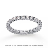 3/4  Carat Diamond 14k White Gold Eternity Round Four Prong Band