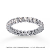1  Carat Diamond 14k White Gold Eternity Round Four Prong Band