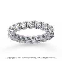 2  Carat Diamond 18k White Gold Eternity Round Four Prong Band