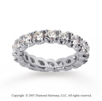 2 1/2 Carat Diamond 18k W Gold Eternity Round Four Prong Band