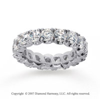 4 1/2  Carat Diamond 18k W Gold Eternity Round Four Prong Band