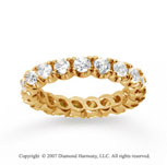 2  Carat Diamond 14k Yellow Gold Eternity Round Four Prong Band