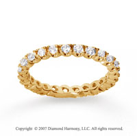 3/4  Carat Diamond 18k Y Gold Eternity Round Four Prong Band