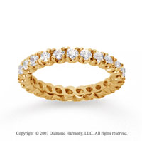 1  Carat Diamond 18k Yellow Gold Eternity Round Four Prong Band