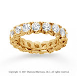 4 1/2  Carat Diamond 18k Y Gold Eternity Round Four Prong Band
