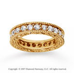 1 1/2 Carat Diamond 18k Yellow Gold Eternity Filigree Band